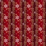 Rojo y papel de embalaje de la Navidad del oro y de la plata Imagen de archivo