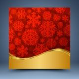 Rojo y plantilla del oro ilustración del vector