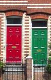 Rojo y verde Imágenes de archivo libres de regalías