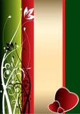 Rojo y verde stock de ilustración