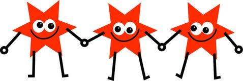 Rojos de la estrella stock de ilustración