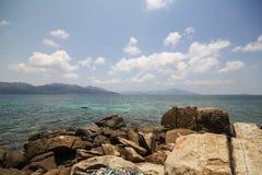 Rok罗伊海岛,酸值Rok罗伊, Satun,泰国 库存照片