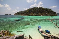 Rok罗伊海岛,酸值Rok罗伊, Satun,泰国 图库摄影