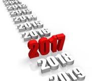 Rok 2017 ilustracja wektor