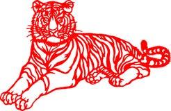 rok chiński tygrysi zodiak obraz stock