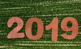 Rok 2019 czerwone liczby obrazy stock
