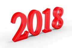 Rok 2018, 3D ilustracja ilustracji