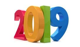 Rok 2019 3d odpłaca się śmiałych listy Obraz Stock