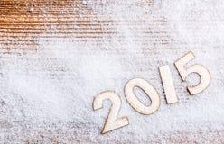 2015 rok drewniane postacie Zdjęcia Stock