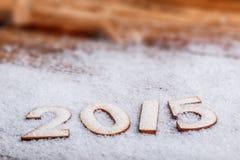 2015 rok drewniane postacie Zdjęcie Stock