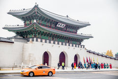 ROK. Guards have been placed at the palace, once home of the king Stock Photos