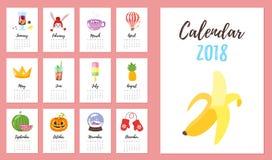2018 rok kalendarz Obrazy Stock