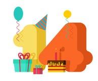 14 rok kartka z pozdrowieniami urodziny 14th rocznicowy świętowanie Tem Zdjęcia Royalty Free