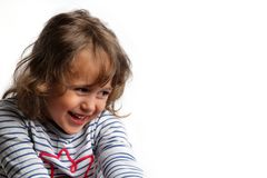 3-4 rok małej dziewczynki ono uśmiecha się zdjęcia stock