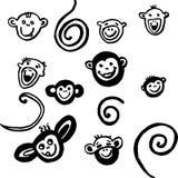 2016 rok, małp głowy i ogonów, Zdjęcie Stock