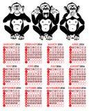 Rok Małpi Chiński zodiak Zdjęcia Stock
