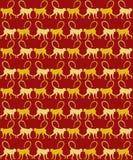 Rok Małpi Bezszwowy wzór Obraz Royalty Free