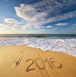 2015 rok na dennym brzeg Zdjęcia Royalty Free