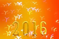2016 rok na zamazanym bokeh świetle Zdjęcie Royalty Free
