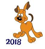 Rok pies 2018 Zdjęcia Stock