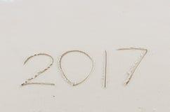2017 rok pisać Obrazy Royalty Free