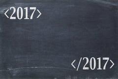 2017 rok pojęcie na blackboard Zdjęcia Royalty Free