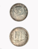 23 rok republika Porcelanowe srebne monety Zdjęcia Stock