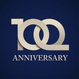 100 rok rocznica papieru liczby Zdjęcia Royalty Free