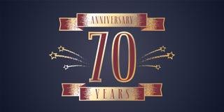 70 rok rocznicowego świętowania wektorowej ikony, logo ilustracja wektor