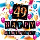 49 rok rocznicowego świętowanie projekta Obrazy Stock