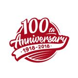 100 rok rocznicowego projekta szablonu Wektor i ilustracja 100th logo ilustracja wektor