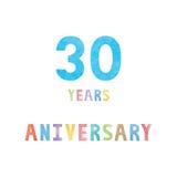 30 rok rocznicowej świętowanie karty royalty ilustracja