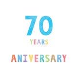 70 rok rocznicowej świętowanie karty ilustracja wektor