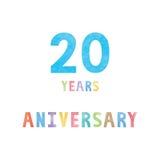 20 rok rocznicowej świętowanie karty ilustracji