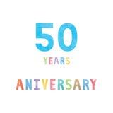 50 rok rocznicowej świętowanie karty ilustracji
