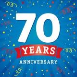 70 rok rocznicowej loga świętowania karty Zdjęcia Royalty Free