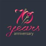 70 rok rocznicowej wektorowej ikony, logo Obraz Royalty Free