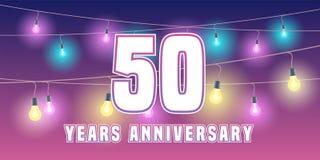 50 rok rocznicowej wektorowej ikony, sztandar Fotografia Royalty Free