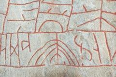 Rok runestone Arkivbild