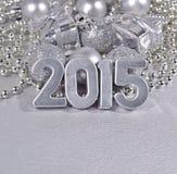 2015 rok srebra postacie Fotografia Royalty Free