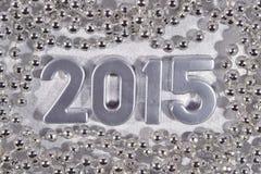 2015 rok srebra postacie Obraz Royalty Free