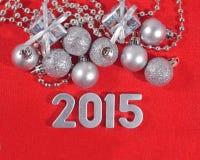 2015 rok srebra postacie Zdjęcia Stock
