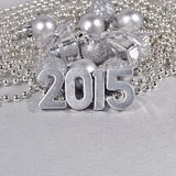 2015 rok srebra postacie Obrazy Stock