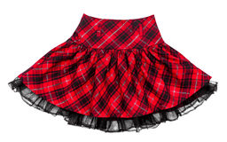 Rok van de baby de rode plaid Royalty-vrije Stock Foto's