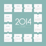 2014 rok wektoru kalendarz Fotografia Stock