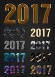 2017 rok wektoru typografia ilustracja wektor