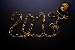 2017 rok złociści koraliki Zdjęcia Royalty Free