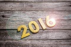 2016 rok złota liczba Zdjęcie Stock