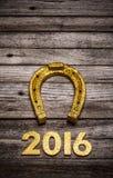 2016 rok złota liczba Obraz Stock