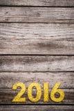 2016 rok złota liczba Fotografia Royalty Free